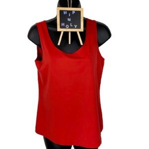 CHICO'S SCOOP NECK STRETCH TANK TOP RED SIZE 1
